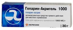 гепарин акригель