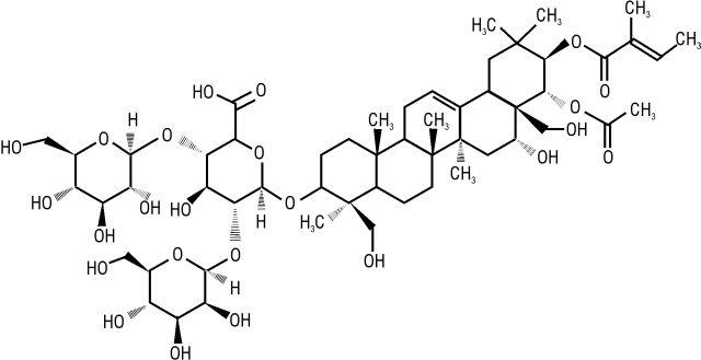 эсцин формула