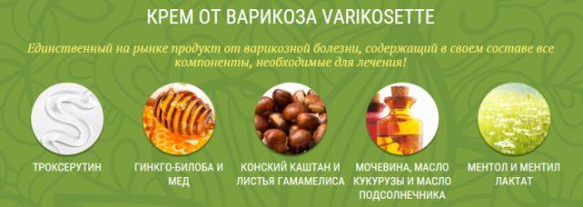 Состав крема Varikosette