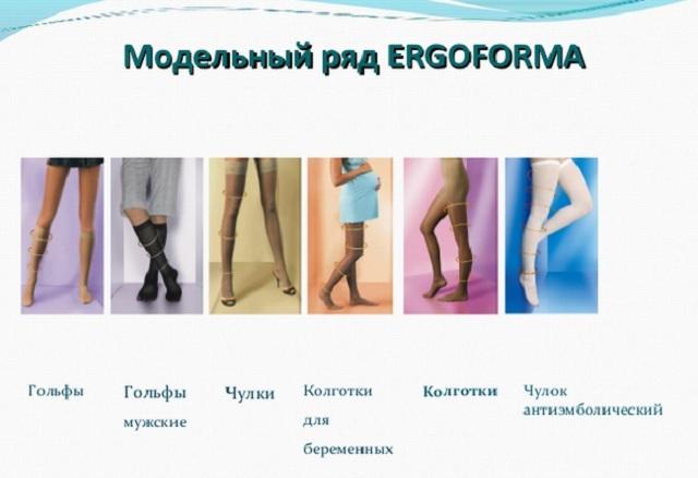 Модельный ряд ergoforma