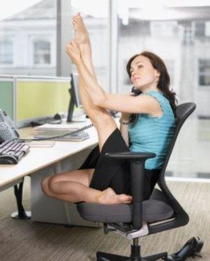 разминка ног в офисе